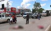 สลด! กระบะซิ่งพุ่งชน 3 เด็กชายกำลังข้ามถนน กระเด็นไปคนละทิศ ดับ 1 สาหัส 2