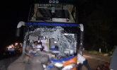 รถทัวร์พุ่งชนช้างตายคาถนนลำปางคนขับเจ็บ