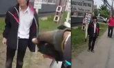 แชร์สนั่น! หนุ่มคว้าโซ่ฟาดใส่ตำรวจ ชาวเน็ตวิจารณ์สองฝ่าย