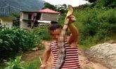 ชายจีนจับงูจงอางฆ่าถลกหนังทำอาหาร ตร.พบคลิปเข้ารวบตัว
