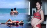 นาวินต้าร์ โชว์แชะภาพแซ่บ ศรีภรรยาอุ้มท้องวิวเกาะสมุย