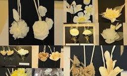 จิตอาสาประดิษฐ์ดอกไม้จันทน์5วันกว่า26,000ดอก