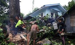 ฝนถล่มต้นไม้ใหญ่หักโค่นทับบ้านอัยการกระบี่