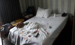 ตร.คาดฝรั่งปาดคอก่อนโดดตึกที่รัชดาฆ่าตัวตาย