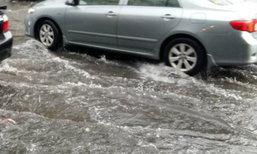 สุขุมวิท-บางนา-สำโรงมีน้ำท่วมขังหลายจุด