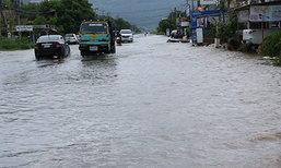 น้ำป่าไหลเข้าท่วมย่านเศรษฐกิจลพบุรีรอบ2ใน1ด.