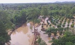 ฝนหนักทำน้ำป่าหลากท่วมสวน-บ้านชาวจันทบุรี