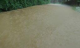น้ำท่วมขังนราธิวาสหลายจุดหลังฝนถล่ม