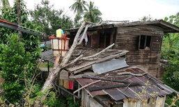 พายุถล่มชุมพรต้นไม้ยักษ์ทับบ้านขน2ยายติดเตียง