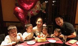 อบอุ่น! พลอย ชิดจันทร์ จัดปาร์ตี้วันเกิดน้องชิลีน มีแค่พ่อแม่ลูก 6 คน