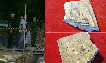 ฮือฮา พบกรุไหโบราณสมัยอยุธยา ระดมตำรวจทหารเฝ้าทั้งวันทั้งคืน