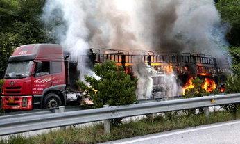 ไฟไหม้รถสารพิษในจีน ดับเพลิงมาราธอนกว่า 23 ชั่วโมง