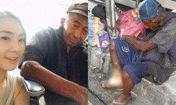 สาวหน้าตาดีตามหาลุงเร่ร่อนเพื่อช่วยเหลือ ใครแจ้งเบาะแสมอบเงิน 1,000 บาท