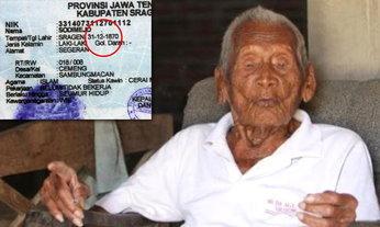 ชายแก่อินโดฯ อายุ 145 ปี บ่นทุกวัน เมื่อไหร่จะตายสักที