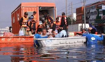 ปภ.สรุปสถานการณ์น้ำท่วม 12 จังหวัด ทั่วไทย