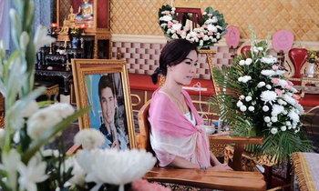 """เจ้าสาวยิ้มเศร้า จัดวิวาห์ในงานศพ """"ไซมอน"""" หนุ่มป่วยมาร์แฟน"""