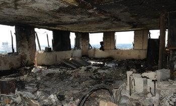 ตำรวจลอนดอนเผยภาพด้านในอาคารเกรนเฟลล์ หลังไฟไหม้