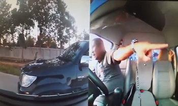 """กระบะไล่ตามรถฉุกเฉิน ขวางทาง-ชี้หน้าด่า """"คนในรถจะตายหรอ"""""""