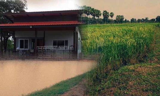 """เปิด """"บ้านไร่ป่าสงวน"""" ของพี่ปอ ทฤษฎี กับการออมน้ำเพื่อการเกษตร"""