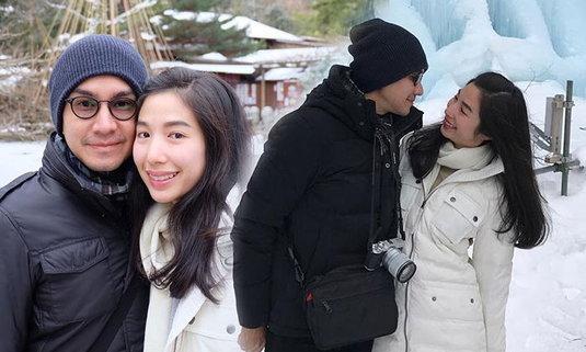 กัปตัน เอ้ก ควงคู่เที่ยวและไหว้ขอลูกที่ญี่ปุ่น