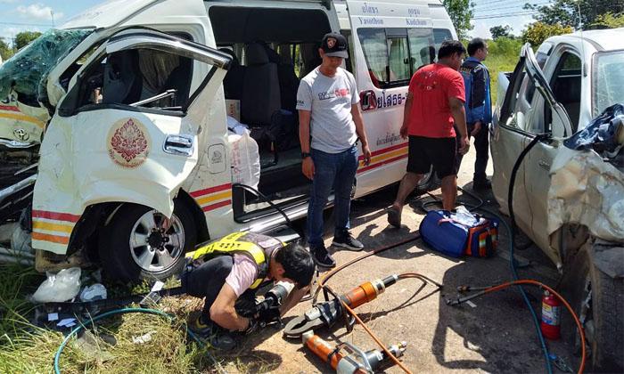 ภาพข่าว ผู้ได้รับบาดเจ็บ,  รถกระบะ,  มุกดาหาร