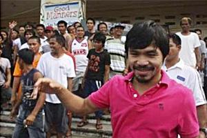 ปาเกียว มีคะแนนนำการเลือกตั้ง ส.ส. เขตบ้านเกิด
