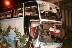 รถทัวร์มรณะกรุงเทพ-เชียงใหม่ คว่ำ ตาย 3 เจ็บอีก 30 คน