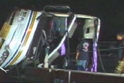 รถทัวร์นักท่องเที่ยวไต้หวันพลิกคว่ำที่ราชบุรี เจ็บ20คน