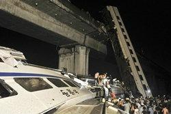 ระทึก! รถไฟหัวกระสุนจีนตกราง ร่วงสะพานดับ 33