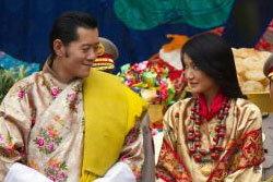 บรรยากาศพิธีอภิเษกสมรส  กษัตริย์จิกมี่