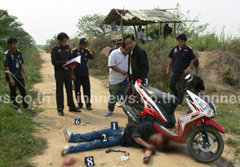 หนุ่มชักปืนยิงเมียดับ หนียิงตัวตายข้ามอำเภอ