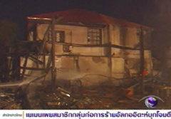 ไฟไหม้โรงงานกรอบรูป ถล่มทับดับเพลิงเจ็บ