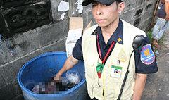 ศพทารกอวัยวะครบถูกทิ้งถังขยะข้างม.ดัง