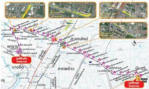 เปิดแนวเวนคืน รถไฟฟ้าสายสีชมพู แคราย ปากเกร็ด มีนบุรี