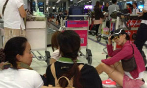 """เก็บตก พนง.การบินไทยประท้วง ทำเอา""""มาช่า""""เซ็ง จะเป็นยังไงไปดู!! (ชมภาพ)"""