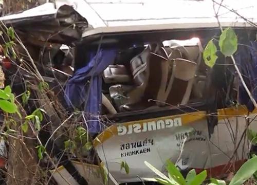 รถทัวร์ขอนแก่น-นครพนมตกเขาภูพานตาย3เจ็บ35