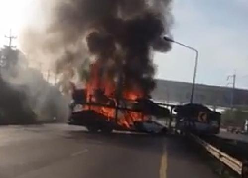 รถหรูไฟไหม้กรมศุลกากรอายัดเร่งตรวจที่มา