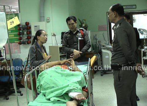 ผู้การปทุมฯเยี่ยมแม่ค้าพิการถูกกระชากกระเป๋า