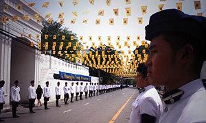เคลื่อนพระศพสมเด็จพระสังฆราชถึงวัดบวรฯ (ภาพชุด)
