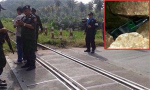 ป่วน! วางระเบิดรางรถไฟบางสะพานขู่ ที่แท้ถ่านไฟฉาย