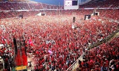 เสื้อแดงยุติ! ปล่อยคนออกราชมังฯ ม.รามฯ เดือดทั้งคืน