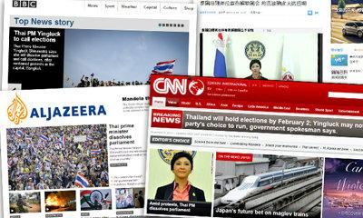 สื่อทั่วโลกประโคมข่าว ยิ่งลักษณ์ ยุบสภา แต่ม็อบไม่จบง่าย