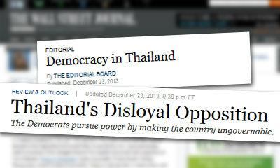 สื่อนอกรุมวิจารณ์ 'ประชาธิปัตย์' ทำร้ายประชาธิปไตยไทย