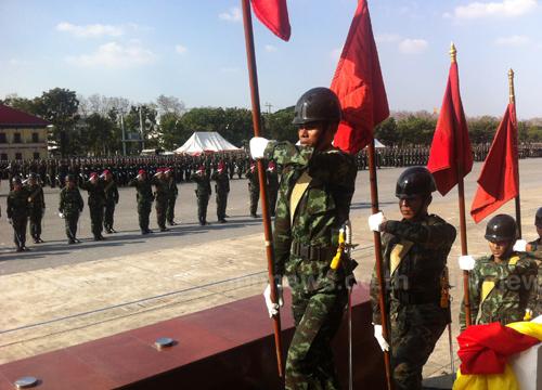 ทบ.ซ้อมย่อยสวนสนามวันกองทัพไทย