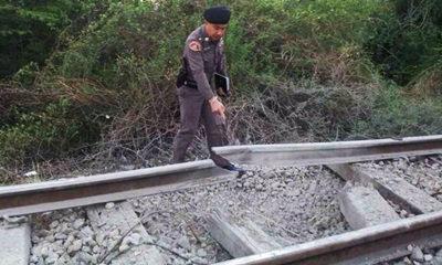 วางบึ้มรางรถไฟชะอำ ตำรวจคาดโยงการเมือง