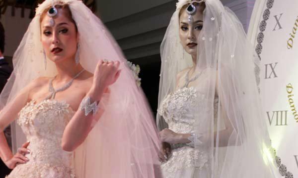 ขวัญ อุษามณี ในชุดแต่งงานที่เลอค่าอลังการสุด ๆ