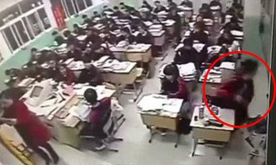 คลิปสยอง! นักเรียนจีนโดดหน้าต่างตายกลางชั้นเรียน