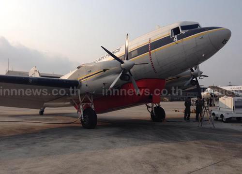 กองบิน46ส่งเครื่องบินดับไฟบ่อขยะแพรกษา