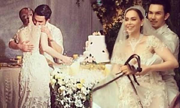 ภาพบรรยากาศงานเลี้ยงฉลองงานแต่งนัท อั้ม