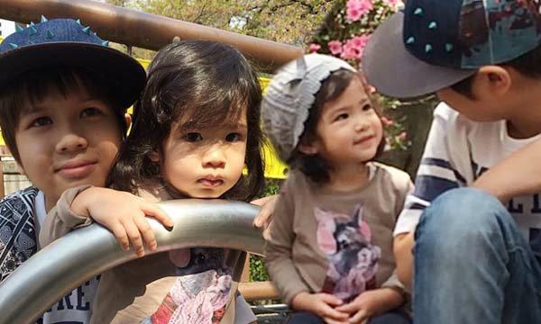 ภาพน่ารัก น้องอีตั้น ลูกแม่หมิว ดูแล น้องนาวา ลูกแม่อ้อม